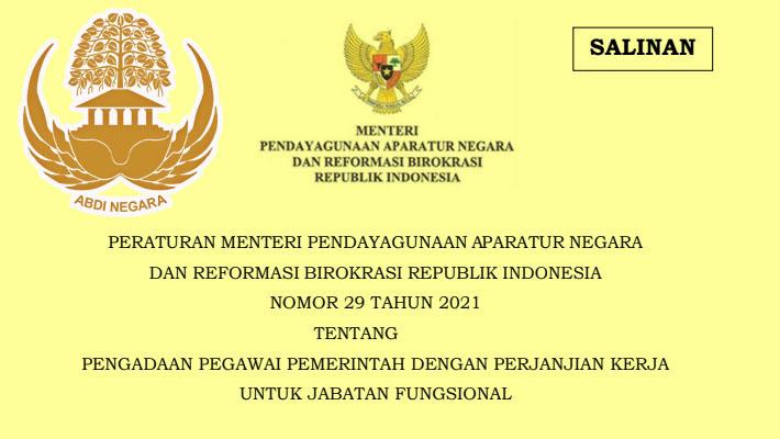 Permenpan RB Nomor 29 Tahun 2021 Tentang Pengadaan PPPK Jabatan Fungsional