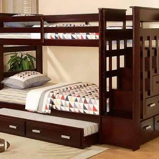 tempat tidur anak 3 sap jati