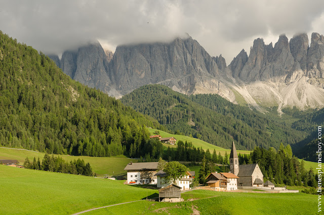 Val di Funes Italia Dolomitas Sankt Magdalena viaje