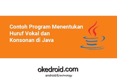 Cara Mencari Menentukan Mengecek Huruf Vokal Vowel atau tidak Konsonan Consonant di Program Java