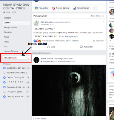 Cara Mencari Postingan Orang Lain Di Grup Facebook