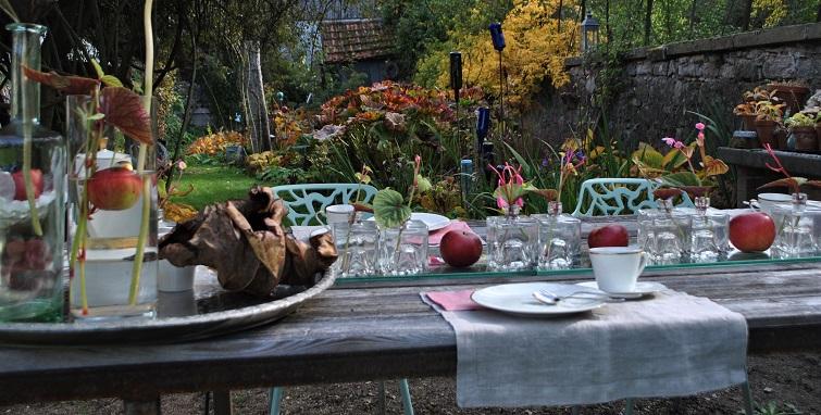 Herbst im Garten - Besuch kommt