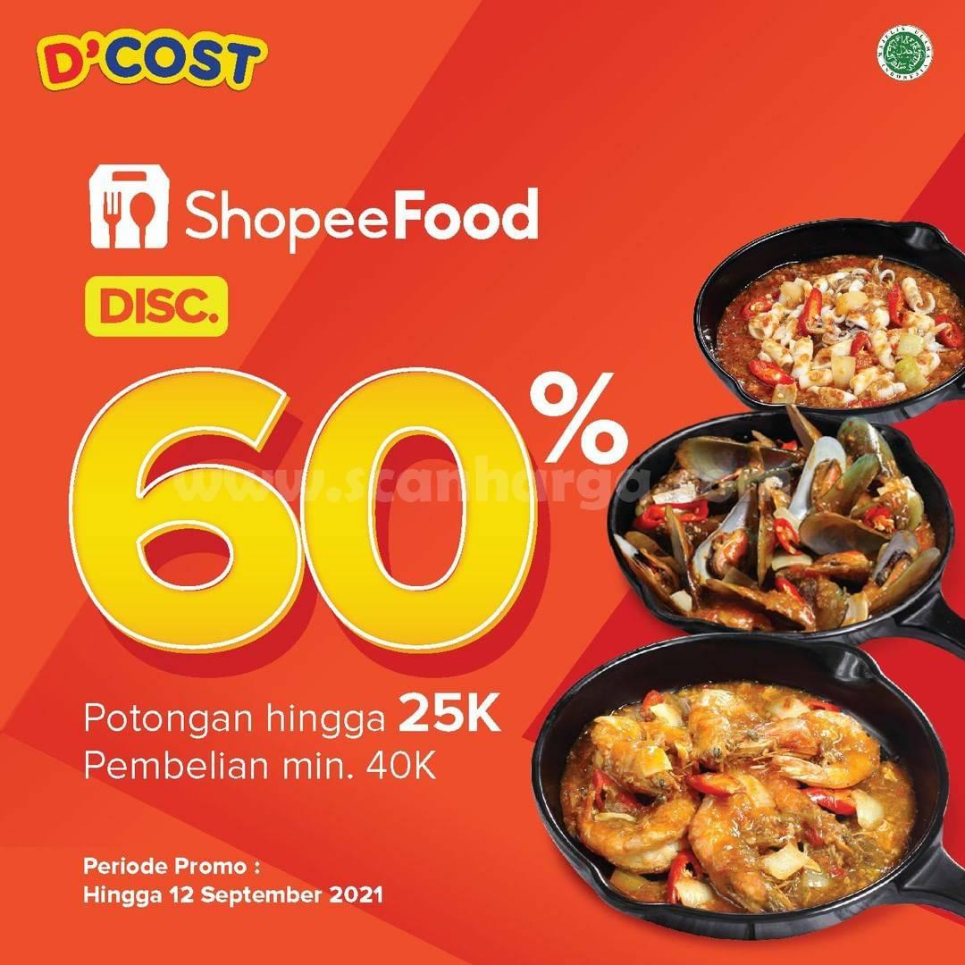 D'Cost Promo Diskon hingga 60% via Shopee Food