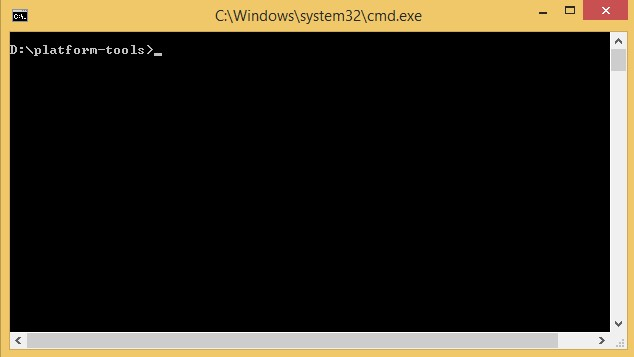 Open Command Window (CMD)
