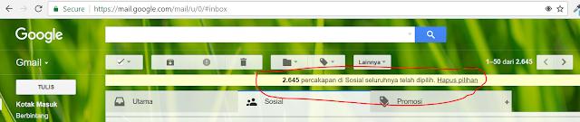 cara menghapus email gmail