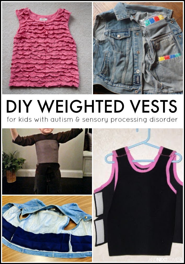 10 Diy Weighted Vest Amp Pressure Vest Tutorials Sensory
