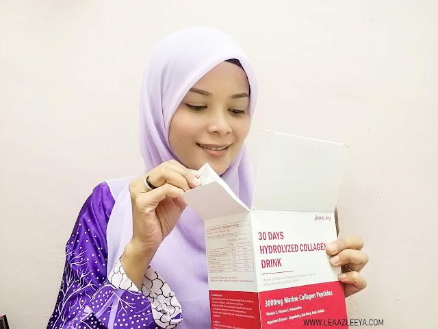 Jeanc 30 Days Hydrolyzed Collagen Drink Malaysia Skin Challenge
