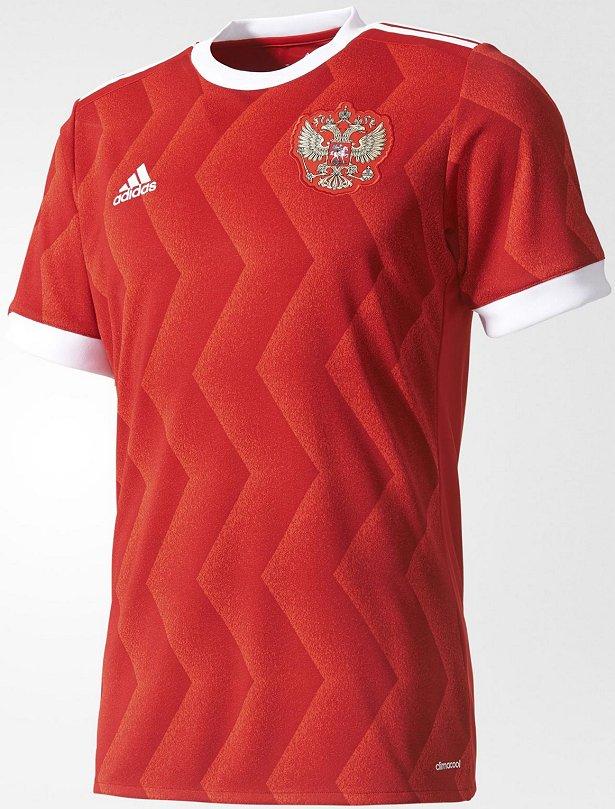 Adidas lança a camisa titular da Rússia para a Copa das ... de42efa1af97d
