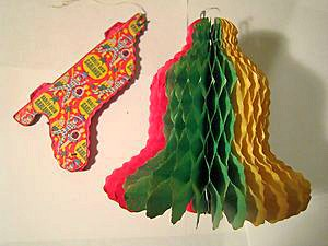 1970s Paper Bell Christmas Decoration