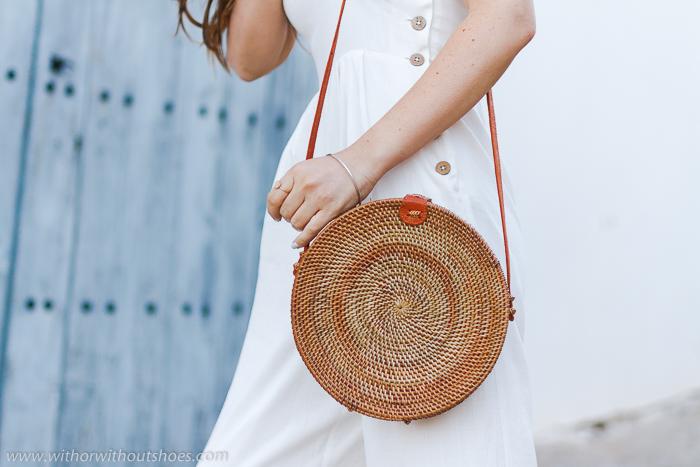 Bolso de ratán Ata round Bag: modelo Penida tamaño grande (Large) amerii.com