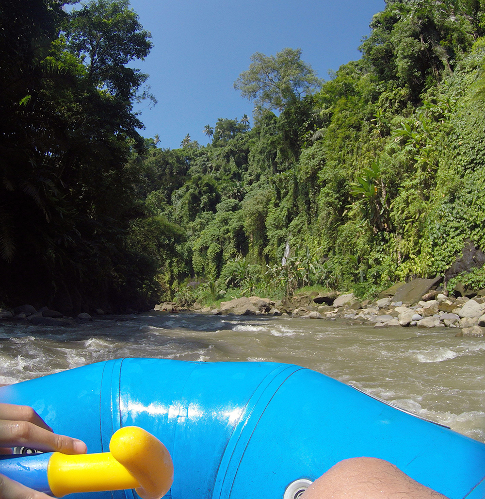Tesyasblog Rafting With Kids At Ayung River Ubud Tiket Di Sungai Bali Beautiful View From Our Boat
