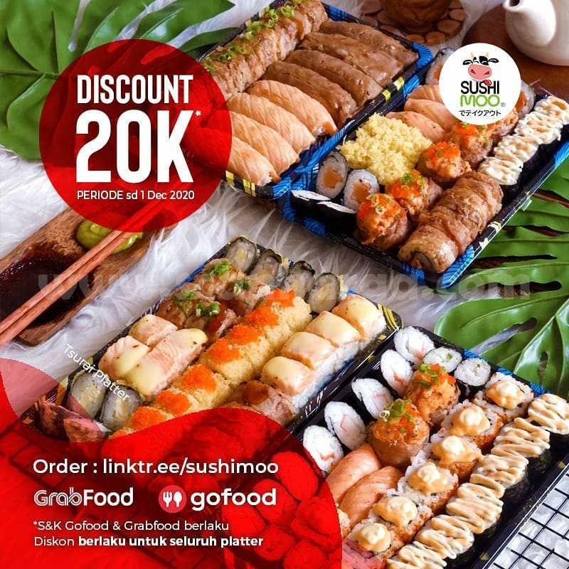 Promo Sushimoo Platter Diskon Rp 20.000 via Grabfood dan Gofood