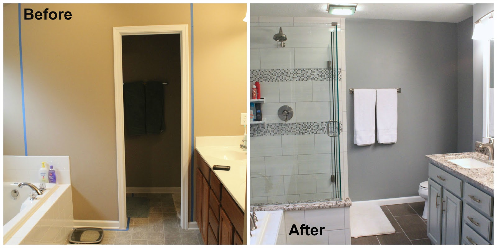 Nearly handmade bathroom renovation the final reveal for Bathroom renovation before and after