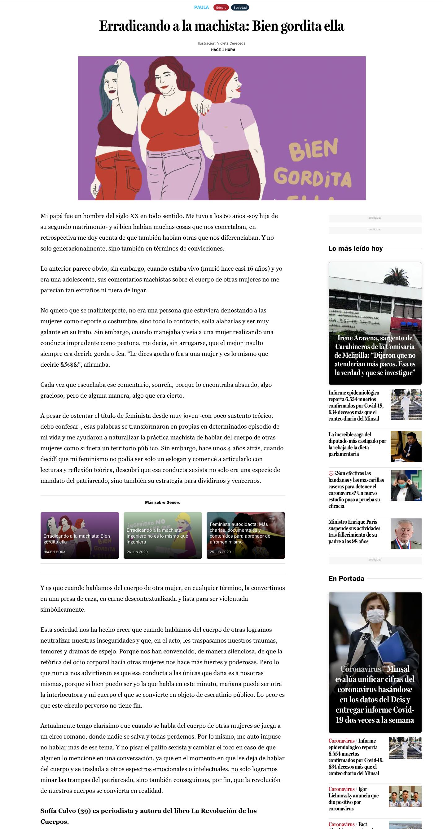 Revista Paula, julio 2020