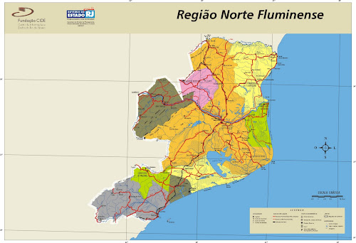 Mapa Região Norte Fluminense - Rio de Janeiro