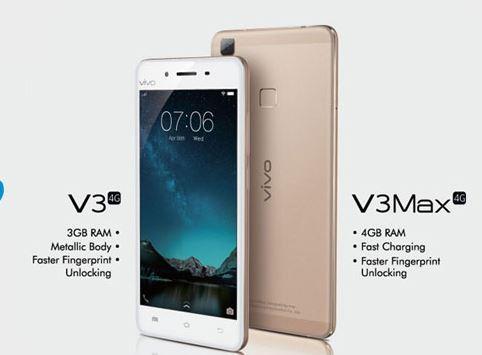 new Vivo V3, new Vivo v3Max, new vivo smartphones, new smartphones 2016