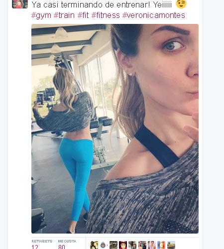 Veronica Montes selfie en el Gym