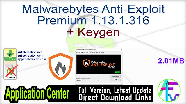 Malwarebytes Anti-Exploit Premium 1.13.1.316 + Keygen