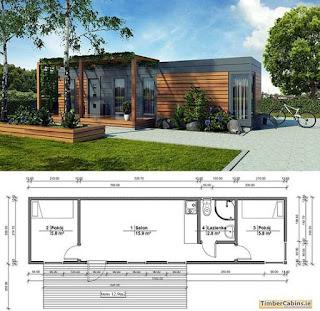 Imagenes de cabañas con planos de diseños arquitectónicos