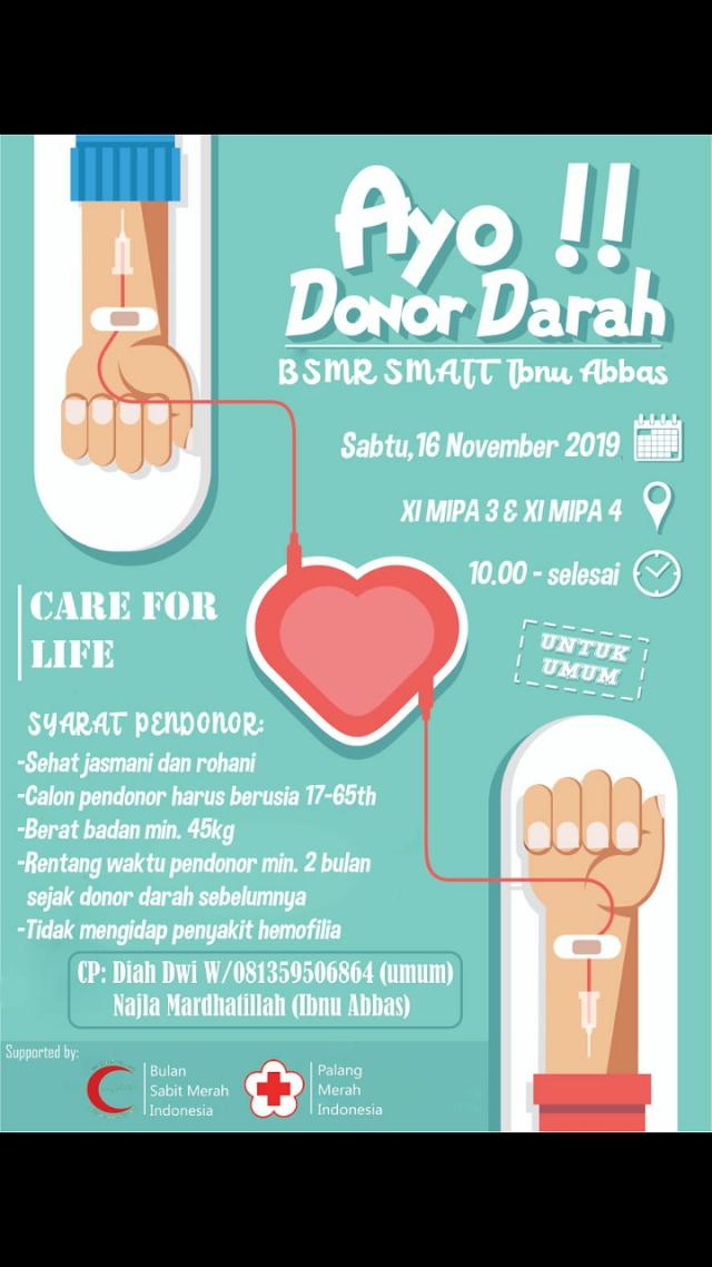 Donor Darah Lokasi PPTQ Ibnu Abbas Klaten Sabtu, 16 November 2019