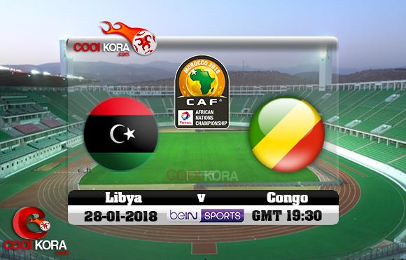 مشاهدة مباراة ليبيا والكونغو اليوم 28-1-2018 بطولة أفريقيا للاعبين المحليين