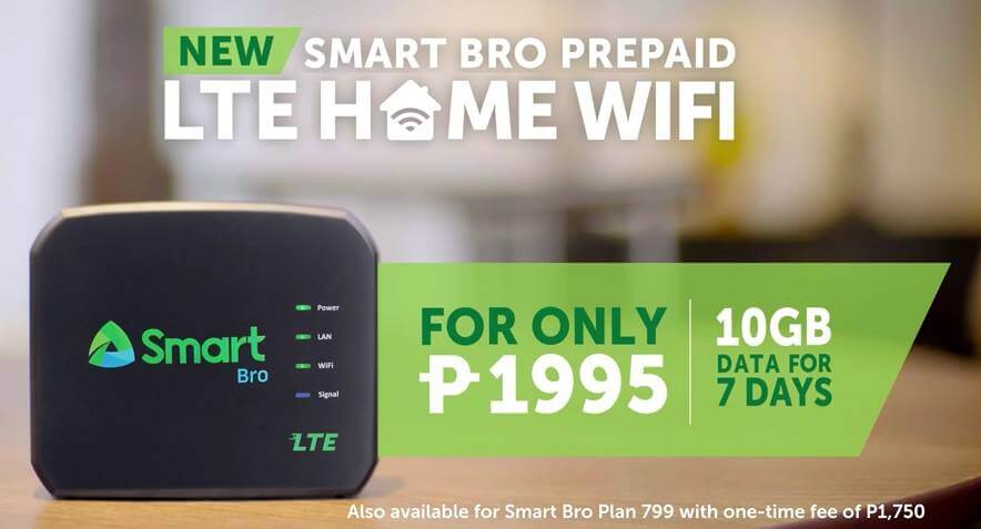 Smart Launches Smart Bro Prepaid LTE Home WiFi for only Php1,995 with Free 10GB of Data