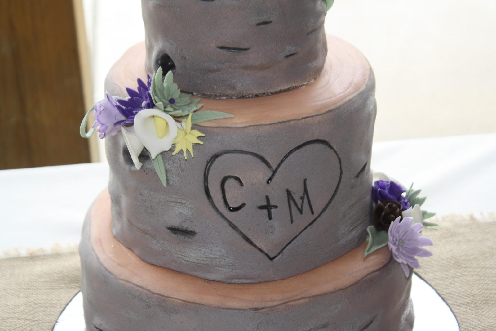 Hock Cakes Llc Tree Stump Wedding Cake