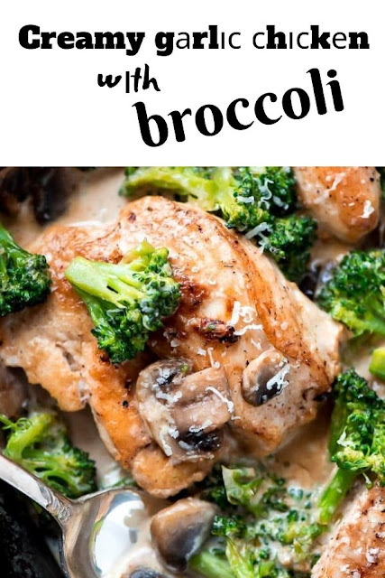 Creamy gаrlіс сhісkеn wіth broccoli #Creamy #gаrlіс #сhісkеn #wіth #broccoli Healthy Recipes For Weight Loss, Healthy Recipes Easy, Healthy Recipes Dinner,