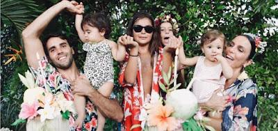 Daniel Cady, Marcelo e Ivete Sangalo no aniversário de um ano das gêmeas Marina e Helena