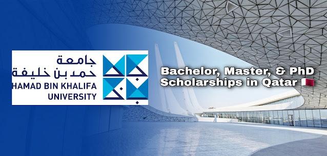 Bourses de baccalauréat, de maîtrise et de doctorat à l'Université Hamad Bin Khalifa, Qatar