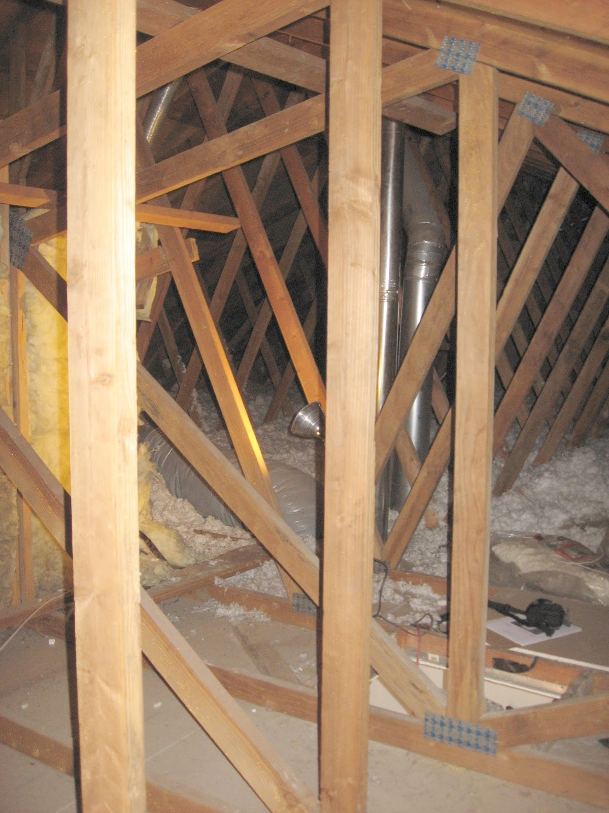 average attic floor insulation was r10 that commonly found in distressed loosefill that was intended r19 the very large attic was a useless and dangerous