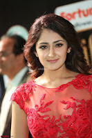 Saisha looks Glamorous Super cute in Transparent Red Gown at IIFA Utsavam Awards 002.JPG