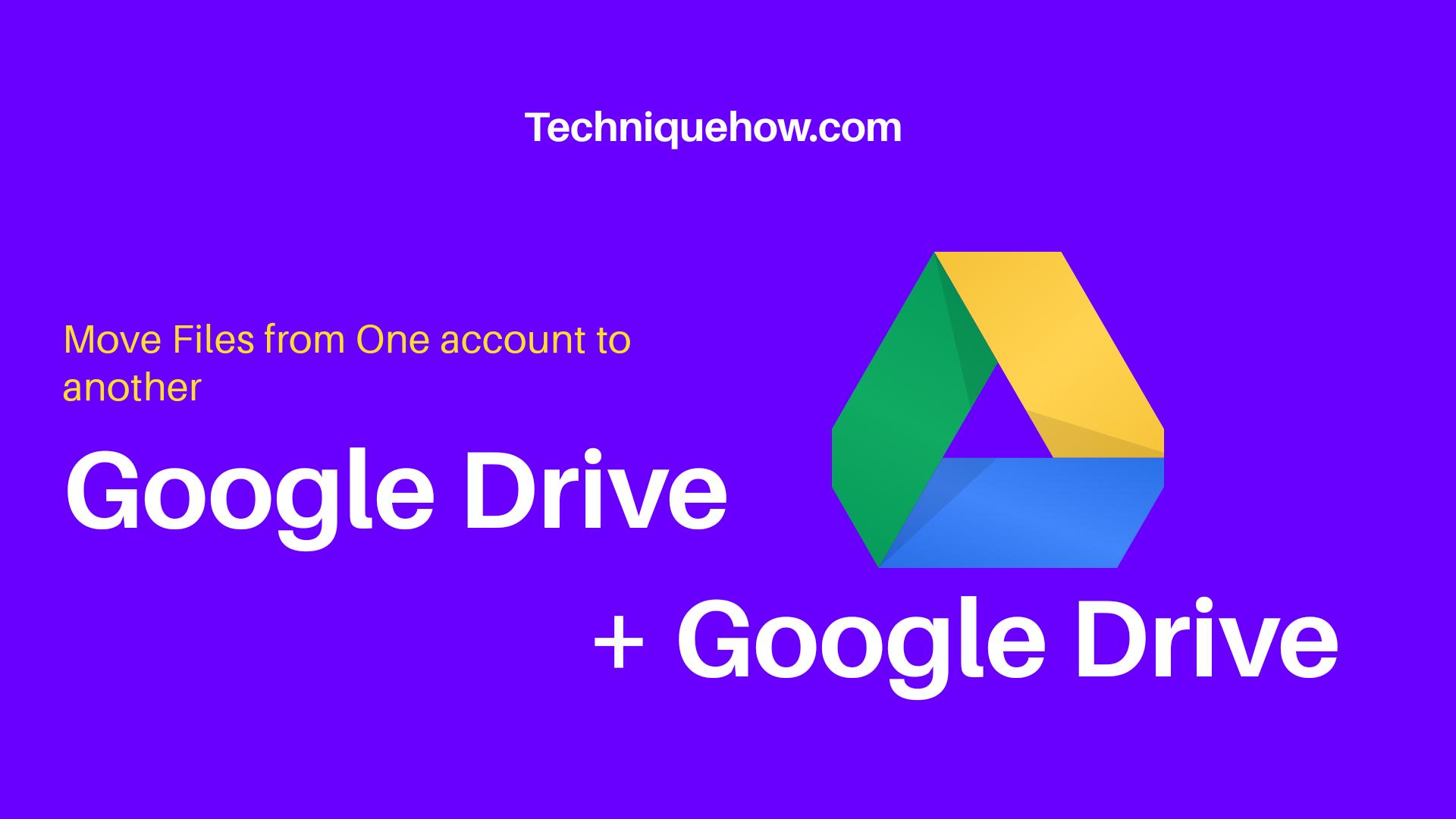 Move Google drive folder