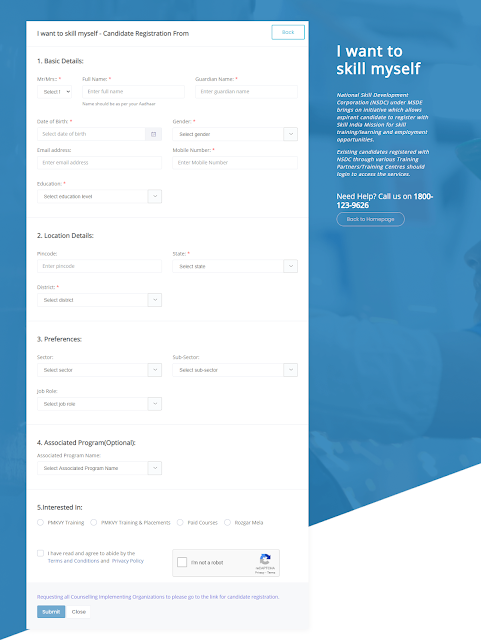Application Form -PMKVY