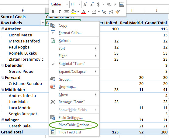 how to repeat table header in excel
