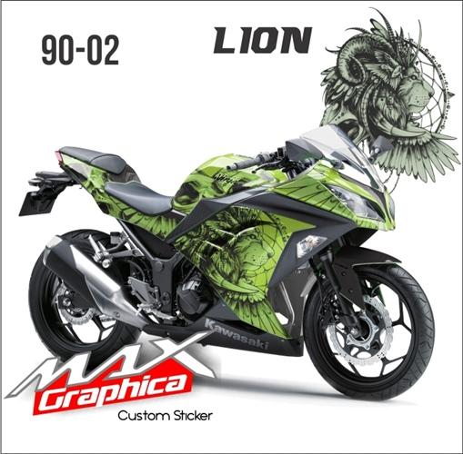 decal sticker NINJA 250FI Green Lion