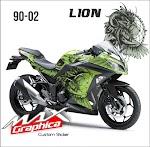 Ninja 250 Fi Green lion
