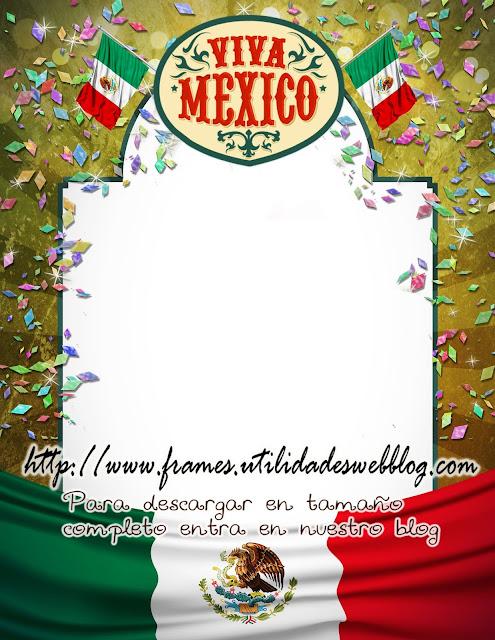 marco para fotomontajes con la frase viva Mexico