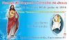 Convite e programação: Festejo do Sagrado Coração de Jesus 2016