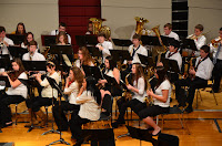 A high school concert band. Photo by Sheila Herman.