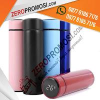 Botol Vacuum Tumbler Termometer Cup, Tumbler Termos Smart LED Temperatur Print UV, Smart LED Thermos Tumbler Stainless Steel, Termos air panas LED Temperatur Suhu Botol Vacuum Tumbler