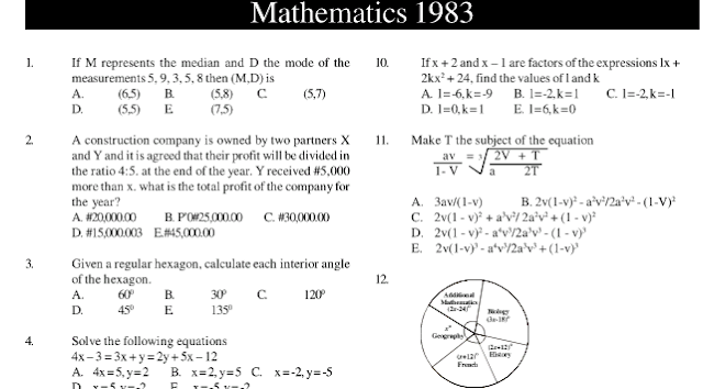 Download JAMB Mathematics Pastquestions: Learningground
