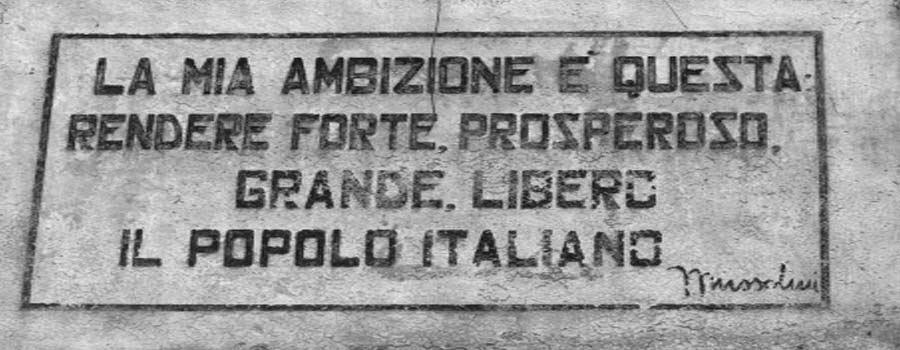Motti Dell Italia Fascista
