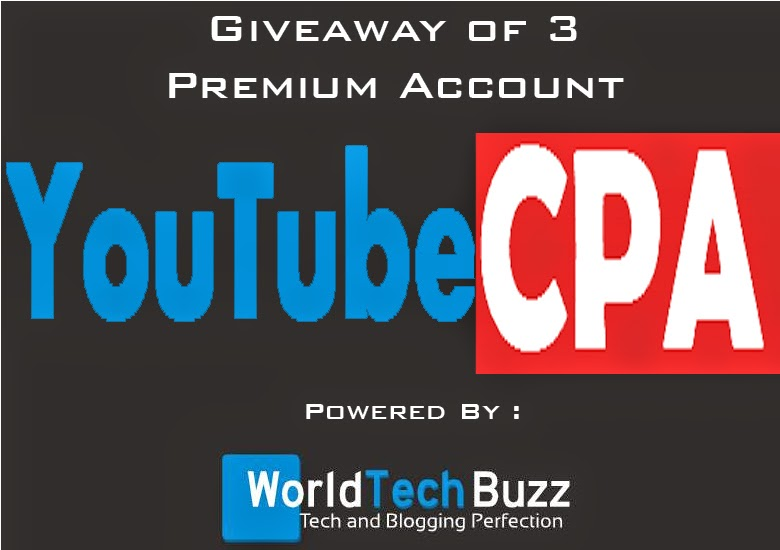 Get 3 Premium Accounts of YouTubeCPA worth $30