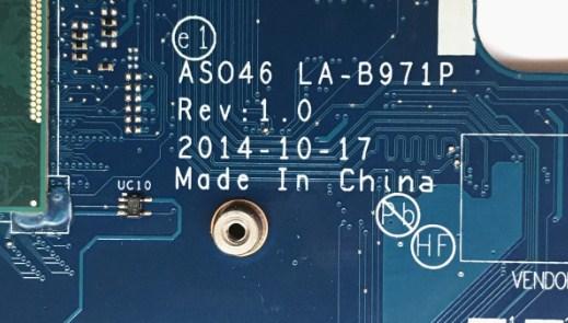 LA-B971P Rev1.0 ASO46 HP 14-r208TX Bios