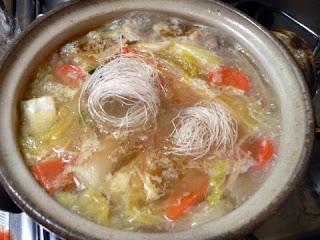 春雨入り鶏スープ