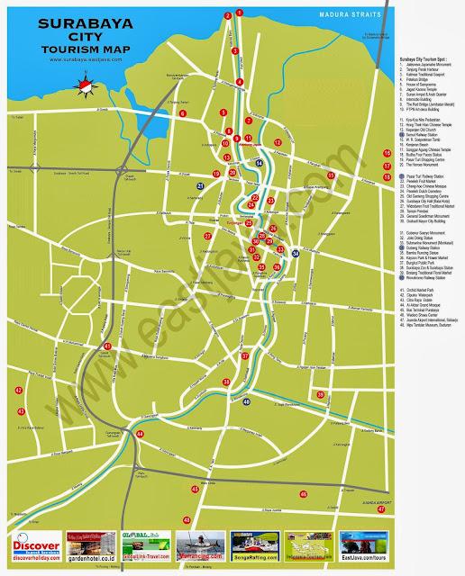 Rute Angkot dan Peta Wisata dan Jalan Kota Surabaya