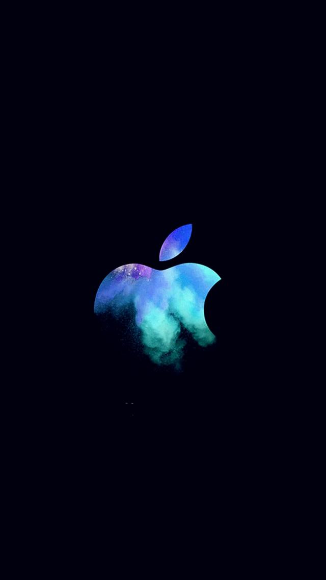 Papel de Parede Celular Apple Logo Fundo Preto