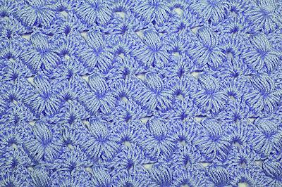 2 - Crochet Imagen Puntada preciosa con punto puff y abanicos por Majovel Crochet