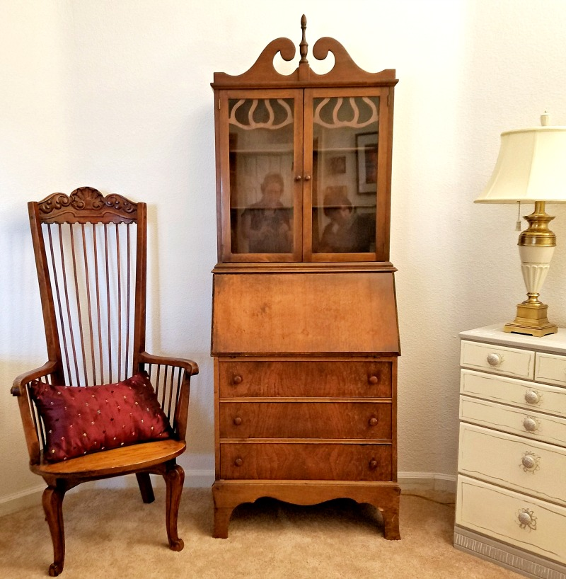 antique secretary found at St. Vincent's thrift store
